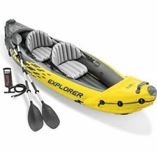 Intex Explorer K2 Kayak, 2-Person Inflatable Kayak Set with Alumin Oars and Pump