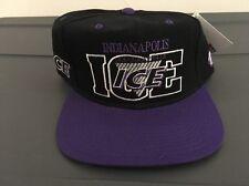 Indianapolis Ice International Hockey Vintage Snapback Hat League Rare New #1