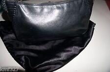 VIA SPIGA BLACK LEATHER BRAIDED SATCHEL TOTE HAND SHOULDER BAG PURSE EXCELLENT