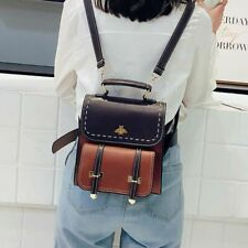 Women Backpack Faux Leather Bag Vintage School Bags Lady Preppy Style Backpacks