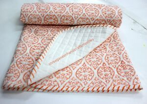 Hand Block Print quilt Kantha baby Quilt Baby Wrap baby Kantha Throw_Blanket_S_h