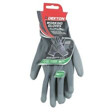 Dekton Working Grey Gloves M Size 8 Ultimate Grip Material For Added Safety