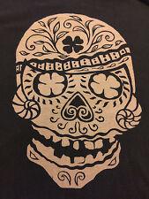 Lucky Brand Small Classic fit  t shirt Sugar Skull Gray Shirt