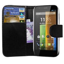 Fundas y carcasas lisos Para Motorola Moto G de piel sintética para teléfonos móviles y PDAs