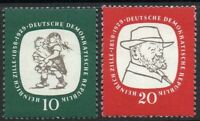 East Germany 1958 (DDR) Zille 10 & 20 Pfg XF MINT MLH Stamp Pair Set