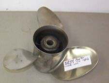 Clean Used Michigan / OMC 14 1/4 x 17 Stainless Outboard Propeller # 013066