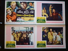 1960 FERRY TO HONG KONG 8 LC SET NM ORSON WELLES  CRIME