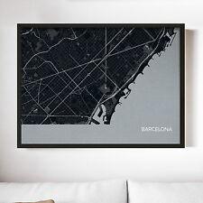 City Street Map Print - Barcelona