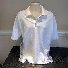 Nike Golf Sphere React White Short Sleeve Tennis and Golf Polo Shirt Mens Xl