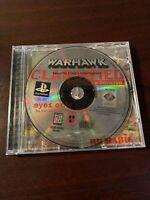 Warhawk Black Label, Jewel Variant, No Manual ,PS1, Playstation 1