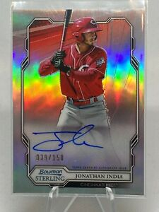 2019 Bowman Sterling Jonathan India Refractor Auto /150 Red's Future R.O.Y.!