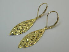 Solid 14K Yellow Gold Interchangeable Lever Back Earrings Style 98 Made In Usa