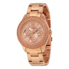 Fossil Stella Rose Gold-tone Stainless Steel Ladies Watch ES3590