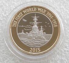 £2 Pound 2015 Royal Navy WW1 HMS Belfast  circulated Coin
