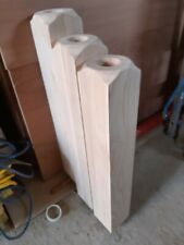 3 x Solid Ash Newel Bases 95mm