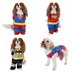 Supergirl Batman Wonder Women Super-man Dog Outfit Jacket Coat Fancy Dress New