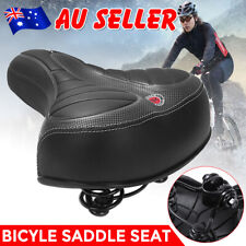 Wide Bum Bike Seat Saddle Bicycle Cycling Sprung GEL Cushion Comfort Soft Padded