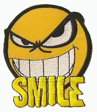 Ecusson patche Emoticon Smile angry patch embleme brodé thermocollant
