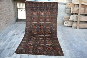Amazing Antique Hand knotted Afghan Soviet War Wool Rug,Authentic Area Rug,