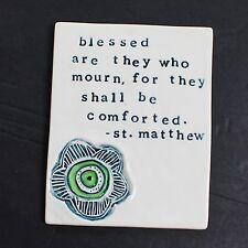 NEW Decorative Wall Tile Plaque Gift 'blessed are they who mourn' Condolence