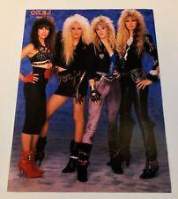 VIXEN 1980s Clippings Posters Swedish magazine Okej Vintage