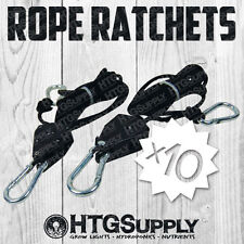 20 Rope Ratchet Heavy Duty Reflector Light Hanger 150Lbs grip sun 10 Pairs pro