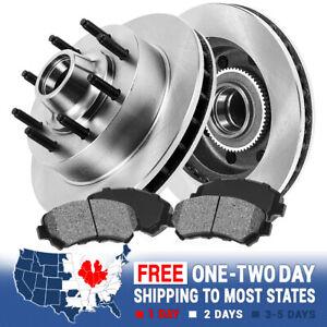 Front Rotors Metallic Pads For 2WD Chevy GMC C2500 C3500 Express Suburban Savana