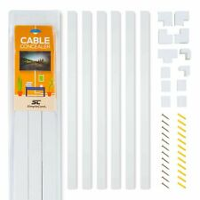 Simple Complete Cable Concealer Wall Cord Cover Raceway Kit for Wire Management