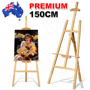 Wooden Easel Wood Artist Easels Display Stand Art Painting Canvas Tripod 150cm