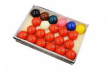 "Premium 2 1/16"" Snooker Ball Set - 22 Piece Snooker Table Ball Set FREE SHIPPING"
