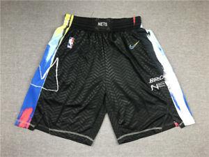 Hot sale New Brooklyn Nets Men's Black City Edition basketball shorts size:S-XXL