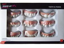 9 Fake Teeth and Vampire Fangs Halloween Fancy Dress Adult Unisex Zombie Joke