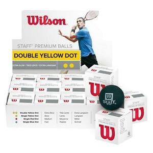 WILSON STAFF ,THREE x ( 3 ) WILSON STAFF PREMIUM SQUASH BALL