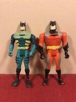 Lot Of 2 Kenner Batman Figures Green Orange DC Comics