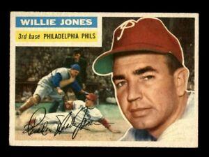 1956 Topps Baseball #127 Willie Jones (Phillies) EXMT
