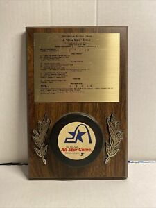 RARE Vintage 1988 39th Annual NHL All-Star Game Puck Plaque GRETZKY LEMIEUX