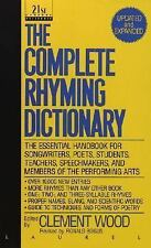 The Complete Rhyming Dictionary by Clement Wood (1992, Paperback, Revised)