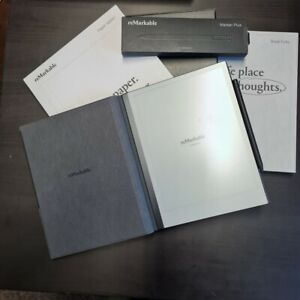 remarkable 2 tablet + marker plus + book folio polymer weave gray