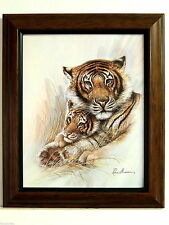 BENGAL TIGER PICTURE TIGER CUB  FRAMED 8X10