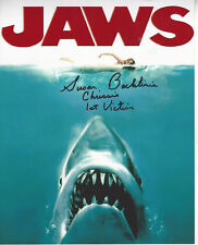 Jaws 1st Victim autographed 8x10 photo (Chrissie) and 1st victim added to pic