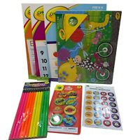 Crayola Pre-K K Activity Book Bundle Books Pencil Reward Sticker Eraser Puzzle