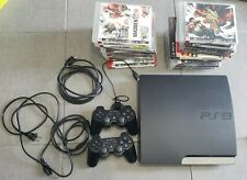 PlayStation 3 Slim 120GB PS3 + Two Controllers + 23 Games Bundle