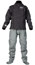 Ocean Rodeo Heat Drysuit - Size Xtra Large with soft socks - black/Gray -- NEW