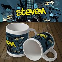 Personalised Custom Photo Mug Cup 11oz - Street Graffiti Mug - Any Name or Text
