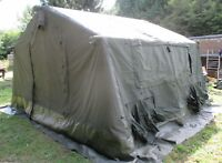 British Army 12x12 Frame Tent BRAND NEW Latest Military Issue SEYNTEX Canvas!