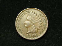 SUMMER SALE!! XF 1902 INDIAN HEAD CENT PENNY w/ DIAMONDS & FULL LIBERTY #90s