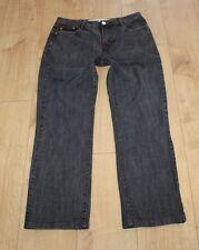 Black Grey Denim DIESEL INDUSTRY Zip Straight Leg Stonewashed Jeans Size 33 L 28