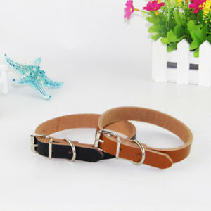 Pet Dog Collars Adjustable Leather Puppy Leash Neck Strap Traction Rope Cowhide