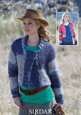 Sirdar Indie Yarn Ladies Cropped Jacket Knitting Pattern 9593