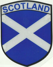 Scotland Scottish Saltire Flag Shield Shape Internal Car Window Sticker Decal